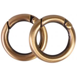 Image of   Karabinhage Rund/O-ring Metal Antik Guld 24mm - 2 stk