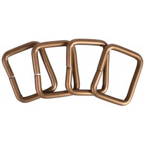 Image of   Ring Firkant Metal Antik Guld 26x20mm - 4 stk