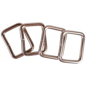 Ring Firkant Metal Sølv 26x20mm - 4 stk