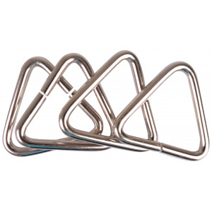 Image of   Ring Trekant Metal Sølv 37x34mm - 4 stk