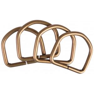 D-Ring Metal Antik Guld 37x35mm - 4 stk
