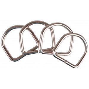 Image of   D-Ring Metal Sølv 37x35mm - 4 stk