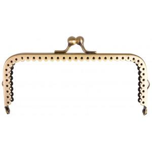 Taskebøjle/Pungbøjle Metal Antik Guld 12,5x6cm - 1 stk