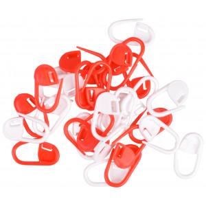 Image of   Infinity Hearts Maskemarkører Rød/Hvid 22mm - 30 stk
