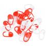 Infinity Hearts Maskemarkører Rød/Hvid 22mm - 30 stk