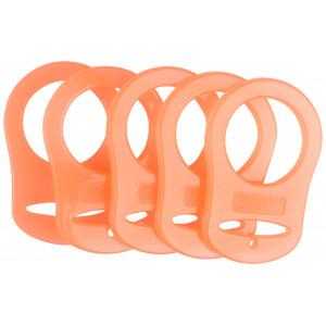 Infinity Hearts Suttekæde Adapter Orange 5x3cm - 5 stk