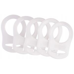 Infinity Hearts Suttekæde Adapter Hvid 5x3cm - 5 stk