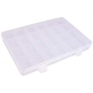 Infinity Hearts Plastboks til knapper og tilbehør Transparent 21x14cm