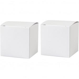 Fold-selv-æske, str. 5,5x5,5 cm, 120 g, hvid, 10stk.