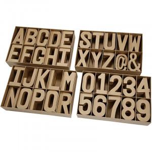 Image of   Bogstaver, tal og symboler af pap, large, H: 20,50 cm, udv. mål 64x172