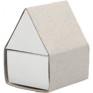 Tændstikæske, hus, str. 5,5x4,8x6,5 cm, 10stk.