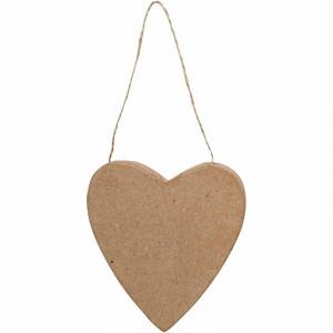 Hjerte, H: 12,5 cm, 12stk.