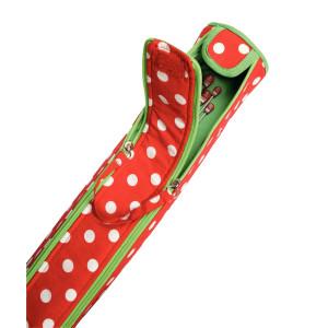 Prym Takse til strikkepinde Polka Dots Rød 9,5x51,5 cm
