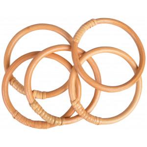 Infinity Hearts Bambusring 10cm - 5 stk