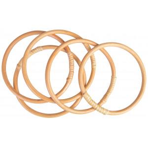 Infinity Hearts Bambusring 15cm - 5 stk