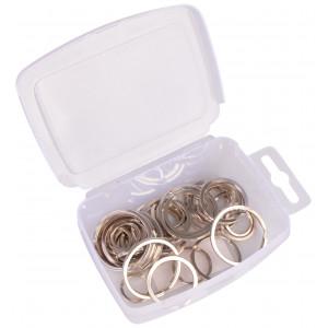 Infinity Hearts Nøglering i plastboks Tyk Sølvfarvet 15-35mm - 50 stk