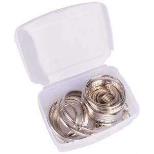 Image of   Infinity Hearts Nøglering i plastboks Tynd Sølvfarvet 5-50mm - 50 stk