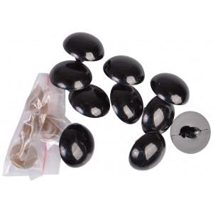 Infinity Hearts Sikkerhedsøjne/Amigurumi øjne Sort 30mm - 5 sæt