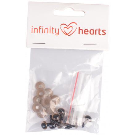 Image of   Infinity Hearts Sikkerhedsøjne/Amigurumi øjne Guld 8mm - 5 sæt