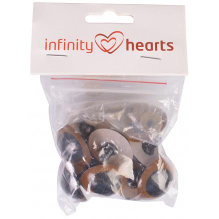 Image of   Infinity Hearts Sikkerhedsøjne/Amigurumi øjne Guld 30mm - 5 sæt - 2. s