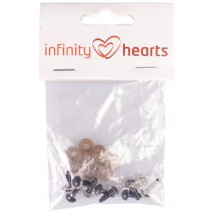 Infinity Hearts Sikkerhedsøjne/Amigurumi øjne Klar 8mm - 5 sæt
