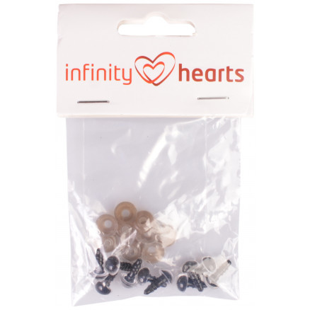 Image of   Infinity Hearts Sikkerhedsøjne/Amigurumi øjne Klar 8mm - 5 sæt