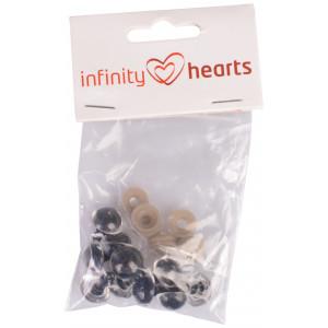 Infinity Hearts Sikkerhedsøjne/Amigurumi øjne Klar 14mm - 5 sæt