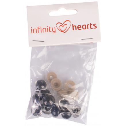 Image of   Infinity Hearts Sikkerhedsøjne/Amigurumi øjne Klar 14mm - 5 sæt