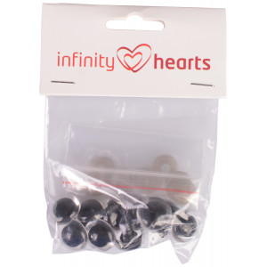 Infinity Hearts Sikkerhedsøjne/Amigurumi øjne Klar 18mm - 5 sæt