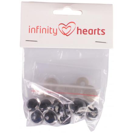 Image of   Infinity Hearts Sikkerhedsøjne/Amigurumi øjne Klar 18mm - 5 sæt