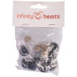 Infinity Hearts Sikkerhedsøjne/Amigurumi øjne Klar 25mm - 5 sæt