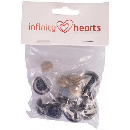 Image of   Infinity Hearts Sikkerhedsøjne/Amigurumi øjne Klar 25mm - 5 sæt
