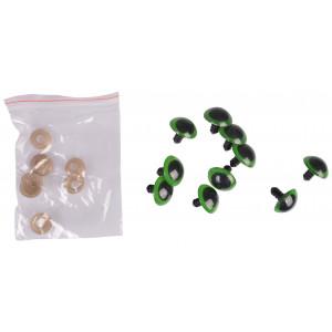 Infinity Hearts Sikkerhedsøjne/Amigurumi øjne Grøn 20mm - 5 sæt