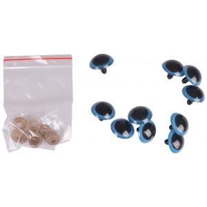 Infinity Hearts Sikkerhedsøjne/Amigurumi øjne Blå 25mm - 5 sæt