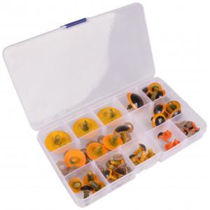 Infinity Hearts Sikkerhedsøjne/Amigurumi øjne i plastboks Orange 8-30m