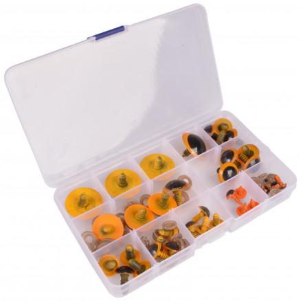 Image of   Infinity Hearts Sikkerhedsøjne/Amigurumi øjne i plastboks Orange 8-30m