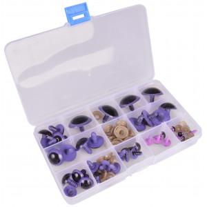 Infinity Hearts Sikkerhedsøjne/Amigurumi øjne i plastboks Lilla 8-30mm