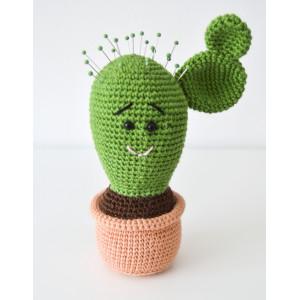 Kaktusnålepude af KreaLoui - Nålepude Hækleopskrift 18cm
