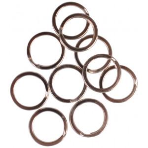 Infinity Hearts Nøglering Tyk Sølvfarvet 15mm - 10 stk