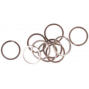 Image of   Infinity Hearts Nøglering Tyk Sølvfarvet 25mm - 10 stk