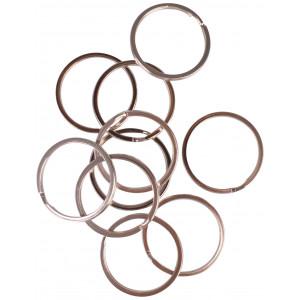 Image of   Infinity Hearts Nøglering Tyk Sølvfarvet 35mm - 10 stk
