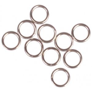 Image of   Infinity Hearts Nøglering Tynd Sølvfarvet 5mm - 10 stk