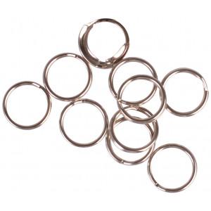 Infinity Hearts Nøglering Tynd Sølvfarvet 10mm - 10 stk