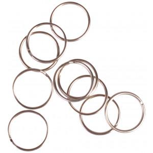 Infinity Hearts Nøglering Tynd Sølvfarvet 20mm - 10 stk
