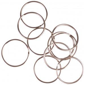 Image of   Infinity Hearts Nøglering Tynd Sølvfarvet 25mm - 10 stk