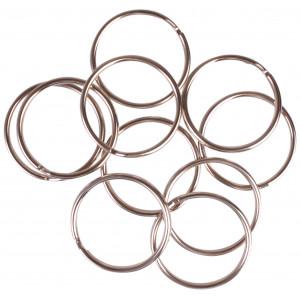 Infinity Hearts Nøglering Tynd Sølvfarvet 35mm - 10 stk