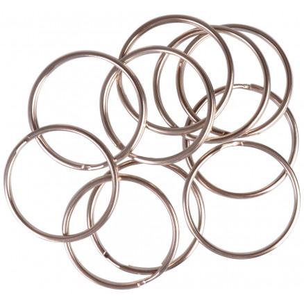 Image of   Infinity Hearts Nøglering Tynd Sølvfarvet 40mm - 10 stk
