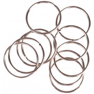 Infinity Hearts Nøglering Tynd Sølvfarvet 45mm - 10 stk