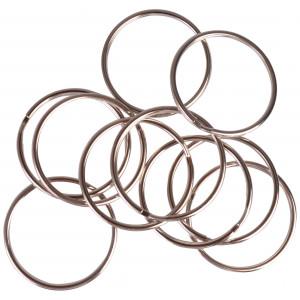 Infinity Hearts Nøglering Tynd Sølvfarvet 50mm - 10 stk
