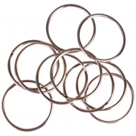 Image of   Infinity Hearts Nøglering Tynd Sølvfarvet 50mm - 10 stk